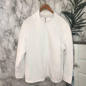 Allison daley white jacket (2X)